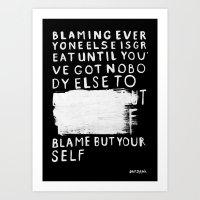 BLAME Art Print