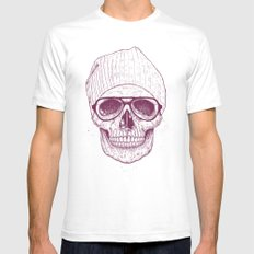 Cool skull Mens Fitted Tee SMALL White
