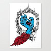 screaming hand Klevra   Canvas Print