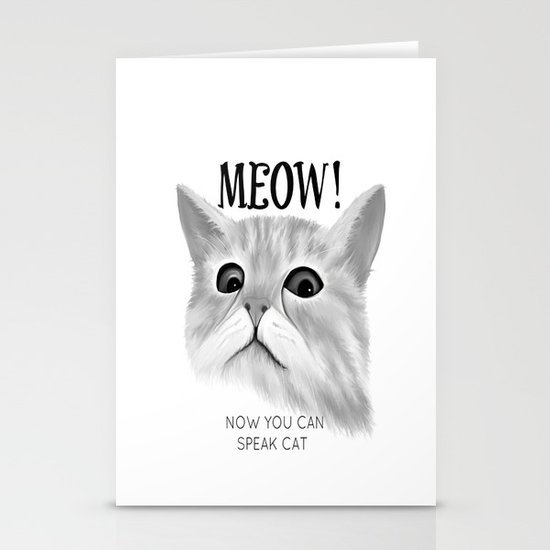 Meow Stationery Card