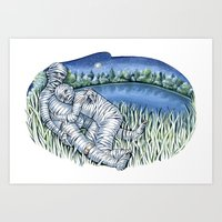 Love Mummies Art Print