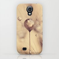 Galaxy S4 Cases featuring dandelion by Ingrid Beddoes
