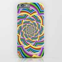 Colorful Curved Chevron Spiral iPhone 6 Slim Case