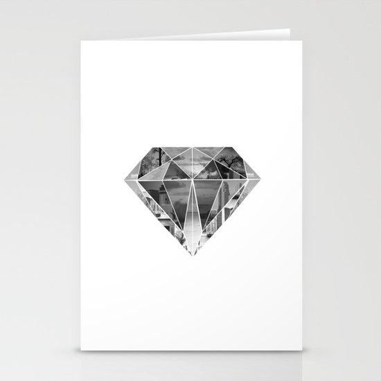 Diamond Stationery Card
