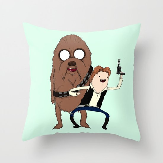 Space Adventure! Mans Best Friend Throw Pillow