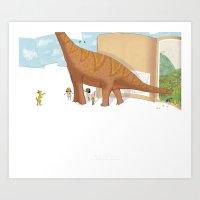 Book Dinossaur Art Print