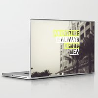 adventure Laptop & iPad Skins featuring Adventure by Tina Crespo