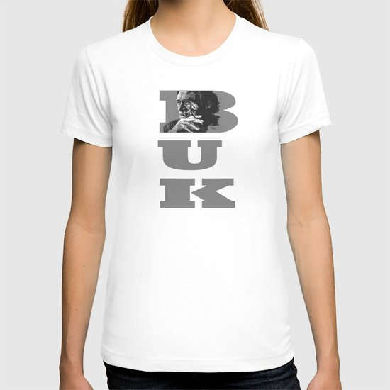 Charles Bukowski -Popart - bw T-shirt