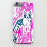 iPhone & iPod Case featuring Boston Terrier Stare by Barbarian | Barbra Ignatiev