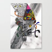 Psychoactive Bear 7 Canvas Print