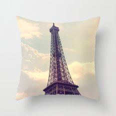 Paris Le Tour Eiffel  Throw Pillow