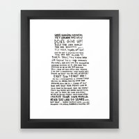 DRUNKEN PAUL PIERROT'S LETTER TO THE GREAT ARTISTS AND BAD ARTISTS. Framed Art Print