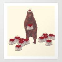 He Baked So Many  Strawb… Art Print