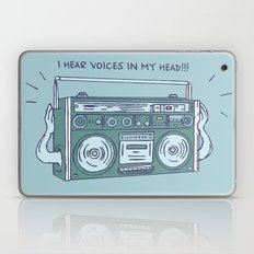 I hear voices in my head Laptop & iPad Skin