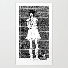 Two's a pair Art Print