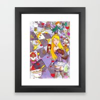Alice In A Mad Mad World Framed Art Print