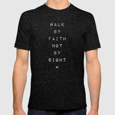 Faith not Sight Mens Fitted Tee Tri-Black SMALL