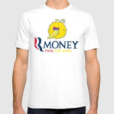 Romney VS Big Bird Mens Fitted Tee White SMALL