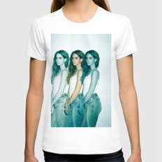Lana - Blue Jeans, White… Womens Fitted Tee White SMALL