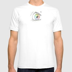 Cosmic Eye SMALL White Mens Fitted Tee