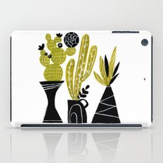 GREEN AND BLACK CACTUS iPad Case