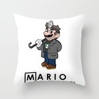 Mario M.D. Throw Pillow
