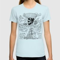 Here We Go Again... Womens Fitted Tee Light Blue SMALL