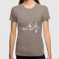 Dark Fiction Womens Fitted Tee Tri-Coffee SMALL