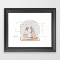 Perfect Things Don't Bri… Framed Art Print