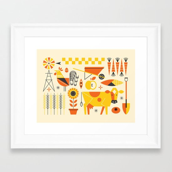 Farm Food Framed Art Print