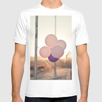pink + purple Mens Fitted Tee White SMALL