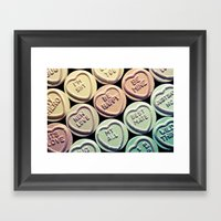 Lovehearts Framed Art Print