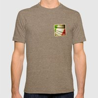 Grunge sticker of Italy flag Mens Fitted Tee Tri-Coffee SMALL