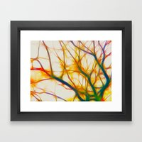 Fractal Forest Framed Art Print