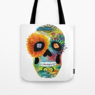 Halloween#Skull#Death Da… Tote Bag