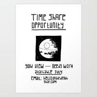 Black Death Star 'Time S… Art Print