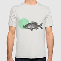 mint bubble Mens Fitted Tee Silver SMALL