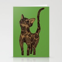 Giraffe Cat. Stationery Cards