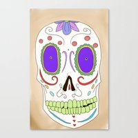 Canvas Print featuring Candied Skull by Suzie