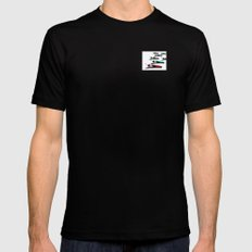 March of the Peacocks Mens Fitted Tee Black SMALL