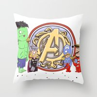 Sgt. Avengers Throw Pillow