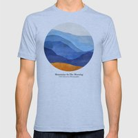 Mountains in the Morning Mens Fitted Tee Athletic Blue SMALL