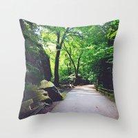 A Woodland Path Throw Pillow