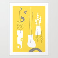 Modplants Art Print