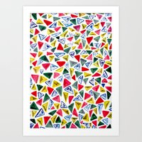 Triangle Relationship (II) Art Print