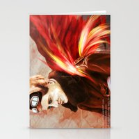 Upon Red Wings Stationery Cards