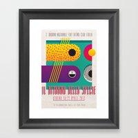 Manifesto Fiat Ritmo (Fi… Framed Art Print