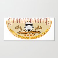 Stormtrooper College Tee Canvas Print