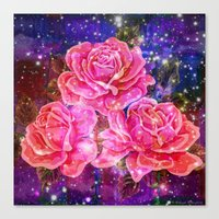 Roses With Sparkles And … Canvas Print