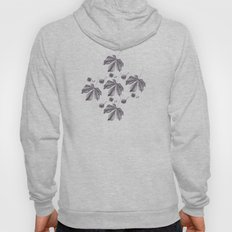 Floral pattern horse-chestnut Hoody